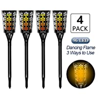 Deals on 4-Pack CINOTON Solar Tiki Torches