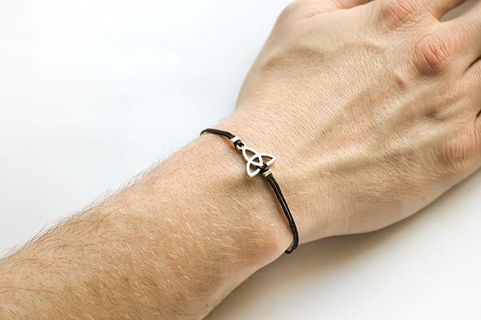 Preferred Amazon.com: Trinity bracelet for men, men's Triquetra bracelet  DB61