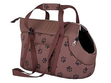 Hobbydog Bolsa de Transporte para Perros y Gatos, Talla 1, Color marrón Claro con impresión de Patas: Amazon.es: Productos para mascotas