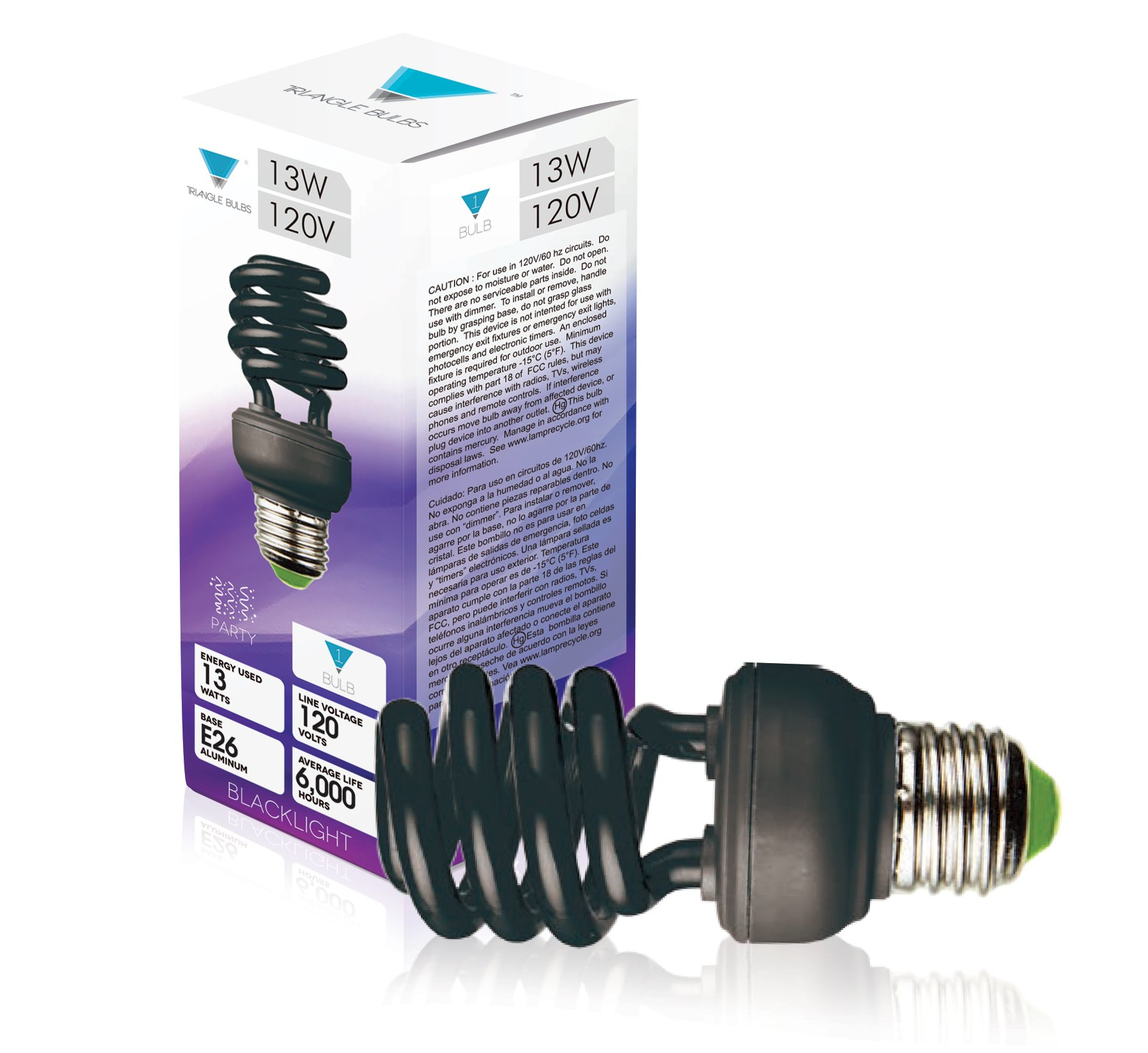 Triangle Bulbs 13 Watt Spiral Energy Saving CFL