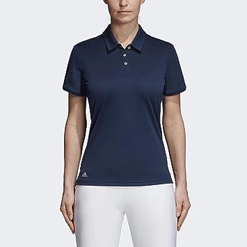 adidas Golf Polo de Manga Corta para Mujer, Grande, colegiado ...