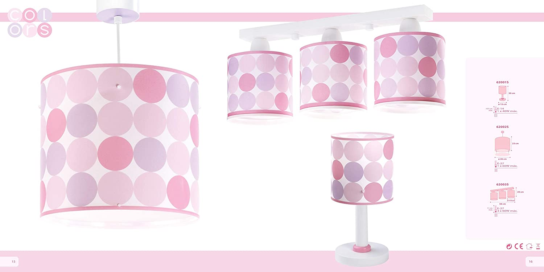 Dalber Colors Lámpara sobremesa, Rosa Rosa