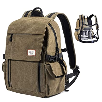 Zecti Camera Backpack Waterproof Canvas DSLR Camera Bag (New Version) For 1  DSLR 4xLens b5217f8c37ad4