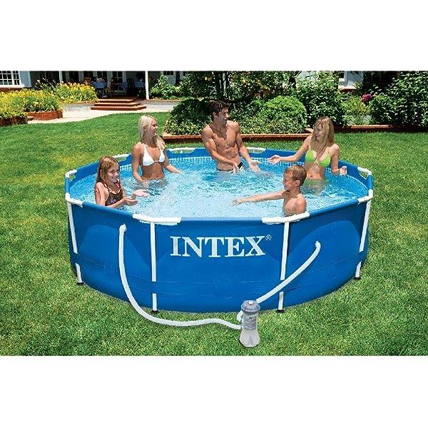 INTEX 28200NP Piscina elevada Metal Frame, 4485 litros, 305x76 cm: Amazon.es: Jardín