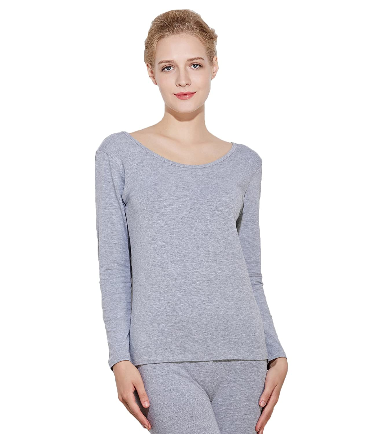 Liang Rou Women's Thermal Scoop Neck Shirt Baifu International Limited MT567-P