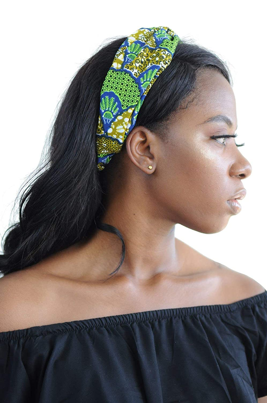 Amazon.com  Luzreal Women s Green Fan African Headband  Handmade 4df53fe33a0