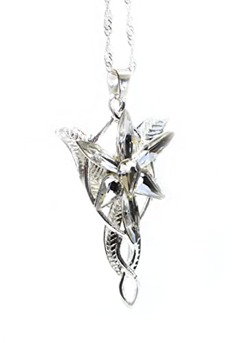 Lotr lord of the rings hobbit arwen evenstar silver color necklace lotr lord of the rings hobbit arwen evenstar silver color necklace crystal pendant prop replica with aloadofball Images