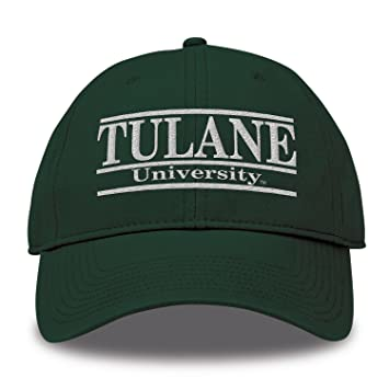 release date: fdc79 69658 NCAA Tulane Green Wave Bar Design Twill Hat, Dark Green, Adjustable