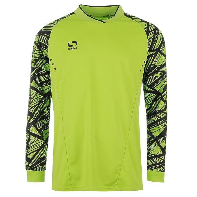 Sondico Pro – Camiseta de Portero de fútbol de Manga Larga Sport Camiseta té Top,