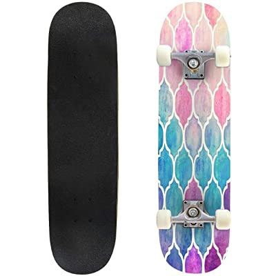"""Everybirdy Pattern Outdoor Skateboard 31""""x8"""" Pro Complete Skate Board Cruiser 8 Layers Double Kick Concave Deck Maple Longboards for Youths Sports : Sports & Outdoors"""