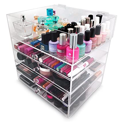 Sorbus 5 Tier Acrylic Cosmetic And Makeup Storage Case Organizer