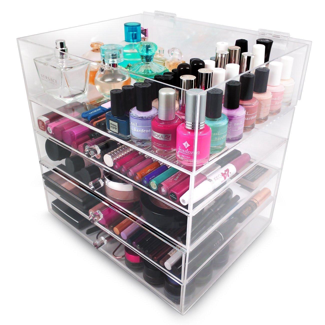 Sorbus 5-Tier Acrylic Cosmetic and Makeup Storage Case Organizer