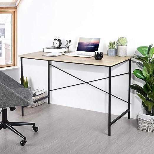 HomyCasa - Mesa de Escritorio para Ordenador portátil con 2 ...
