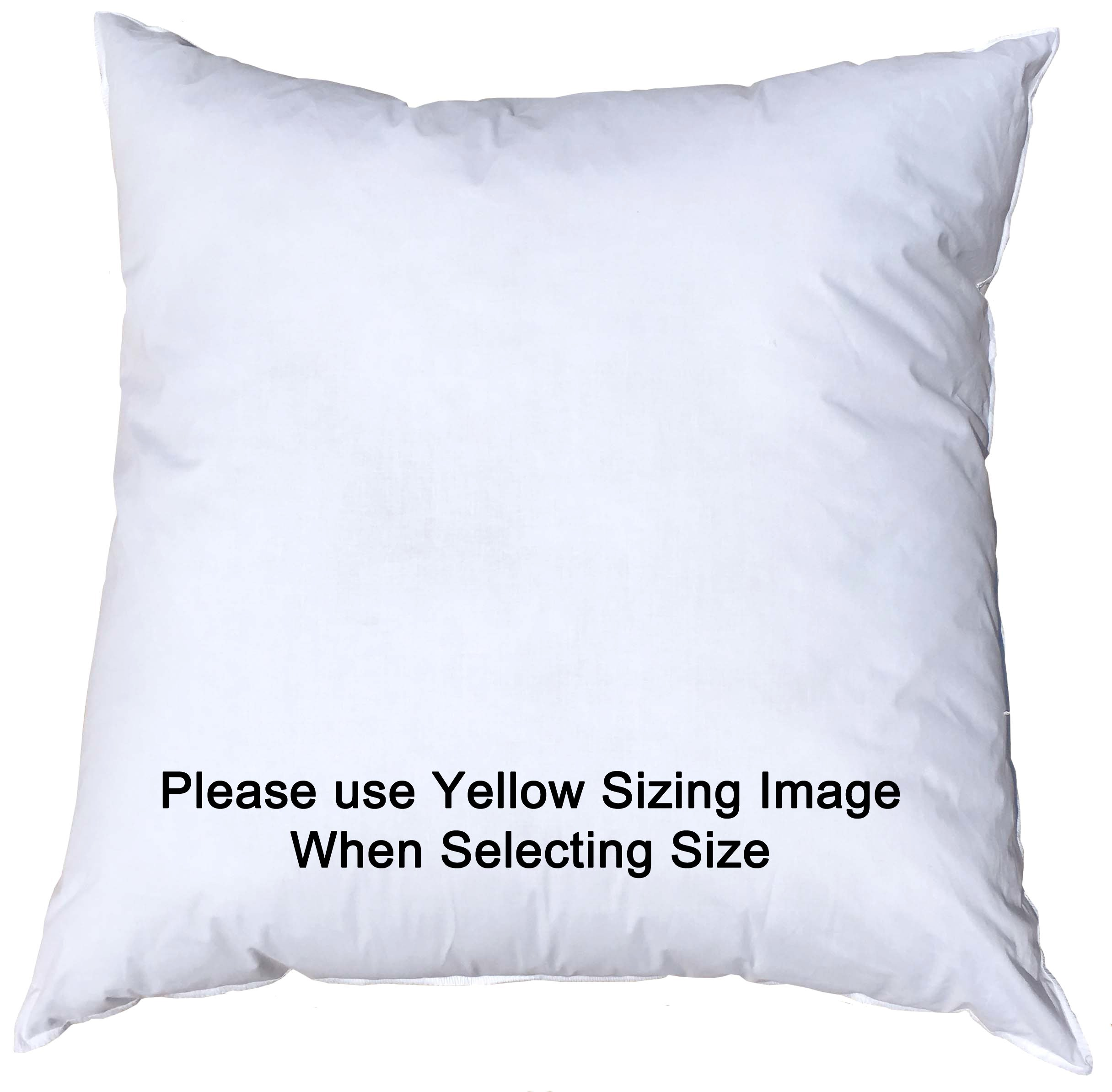27x27 Inch Pillowflex Premium Polyester Filled Pillow Form Insert - Machine Washable - European Square - Made In USA