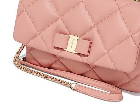 551964afab7 Amazon.com  Salvatore Ferragamo Women s Medium Quilted Vara Flap Bag  (Blush)  PORTMANTOS