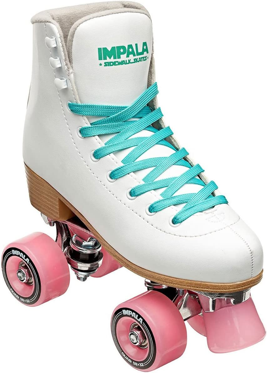 Impala Sidewalk Womens Roller Skates – White Pink – 7