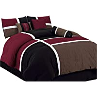 chezmoi Collection–Quilted mosaico Comforter 7piezas