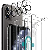 [6 Pack] LK 3 Pack Screen Protector for iPhone 11 Pro + 3 Pack Camera Lens Protector Anti-Scratch (Easy-Installation Tool) Te