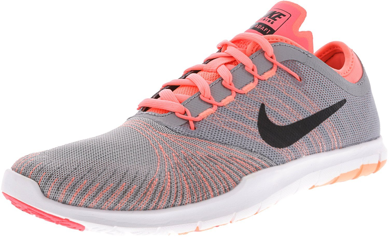 New Nike Women's Flex Adapt TR Cross Trainer Grey/Lava Glow 9