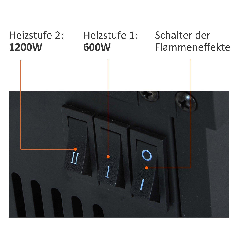 HOMCOM Elektrokamin Elektrokamin Elektrokamin Kamin Kaminofen Elektrischer Wandkamin (Modell1) e1ec8f