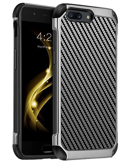 more photos eb707 d79a5 OnePlus 5 Case, OnePlus Case 5, BENTOBEN Carbon Fiber Slim 2 in 1 Hybrid  Hard PC Flexible TPU Chrome Shockproof Anti-Scratch Protective Men Phone  Case ...