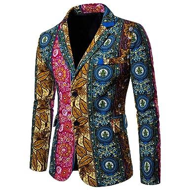 Geschäft unverwechselbarer Stil Top-Mode URSING Herren Trenchcoat Sakko Blazer Anzug Jacke Print ...