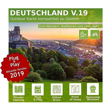 Deutschland V.19 - Profi Outdoor Topo Karte kompatibel zu Garmin Oregon 300, Oregon 450t, Oregon 550, Oregon 650t