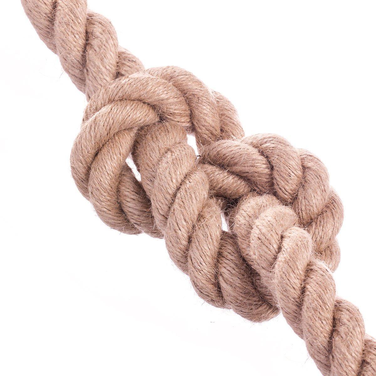 JUTESEIL Naturfasern gedreht Tauwerk Hanf Jute Tau Seil Tauziehen Absperrseil Handlauf 10m 40mm