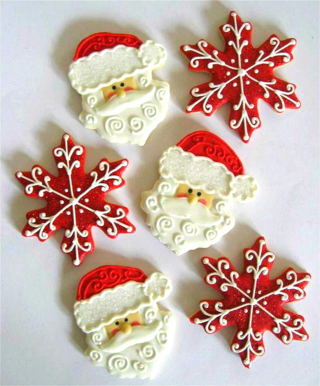 KENIAO Navidad Cortadores Galletas Invierno Moldes para Galletas - 8 Piezas - Copo de Nieve, Bastón de caramelo, Monigote de nieve, Mitónárbol de Navidad, ...