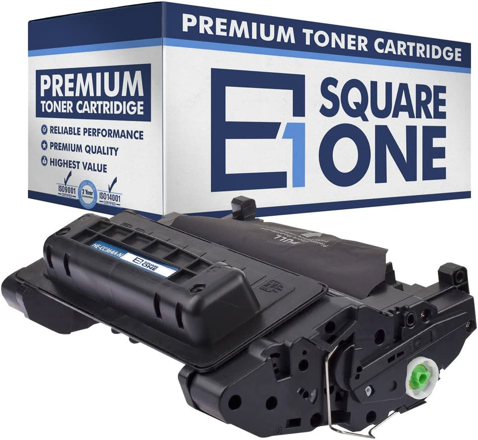 Black, 4-Pack eSquareOne Compatible Toner Cartridge Replacement for HP 64A CC364A