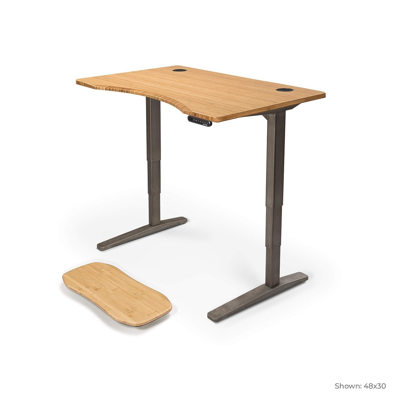 Amazon.com: Escritorio de pie de bambú con escritorio ...