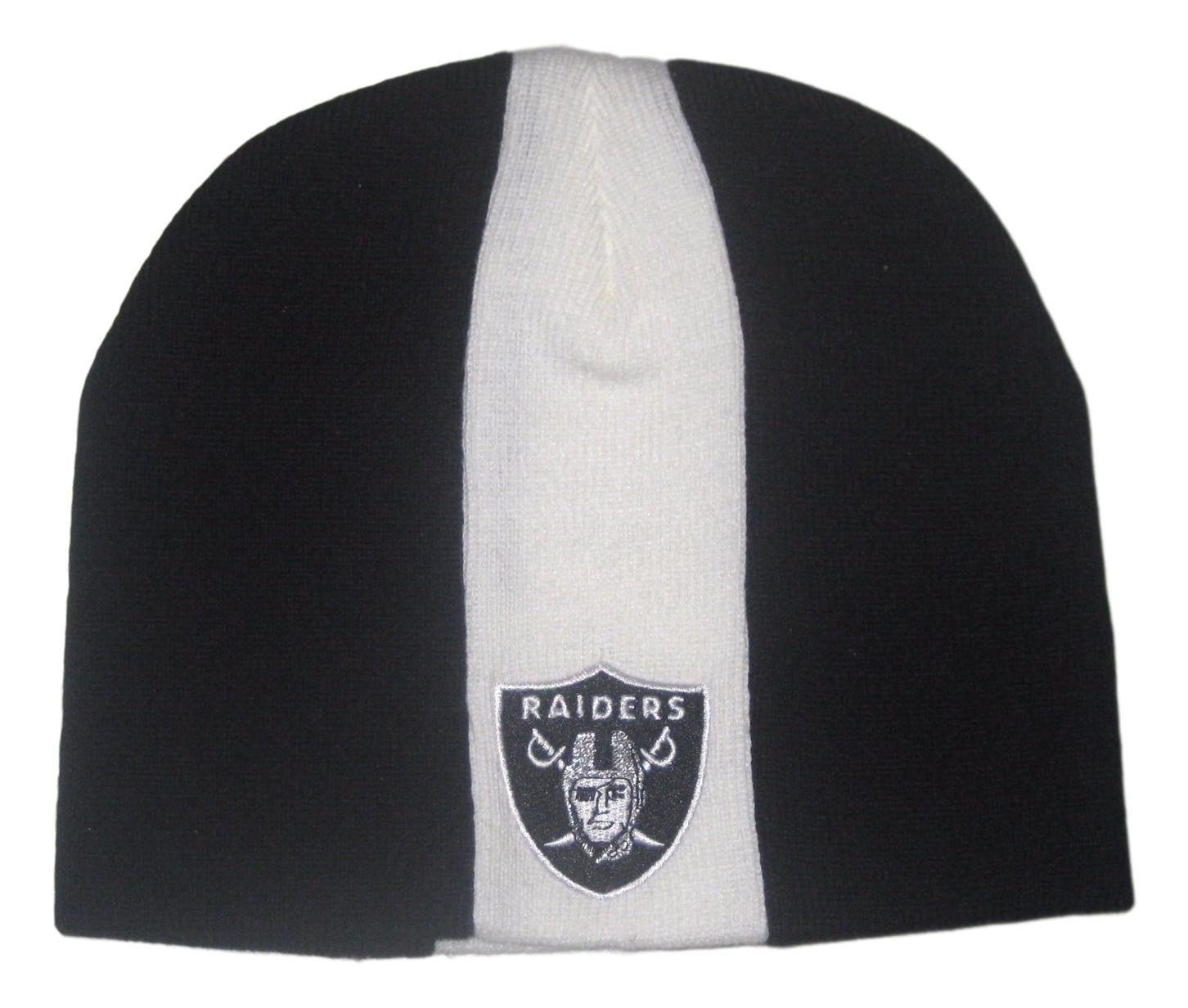 Oakland Raidersスカンク子供用ストライプビーニー帽子Toque B0773JD9NF