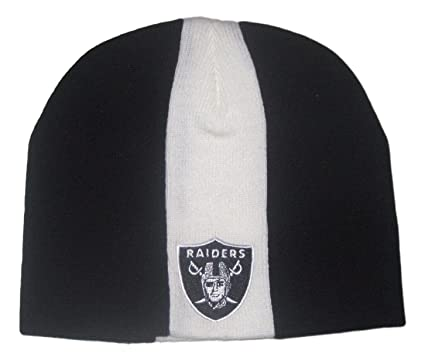 Image Unavailable. Image not available for. Color  Fan Apparel Oakland  Raiders Skunk Striped Kids Beanie Hat Toque 3ff7a133d