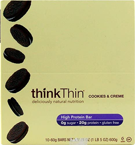 Thinkthin, Bar Cookies N Creme Box, 10 Count, 2.1 Ounce