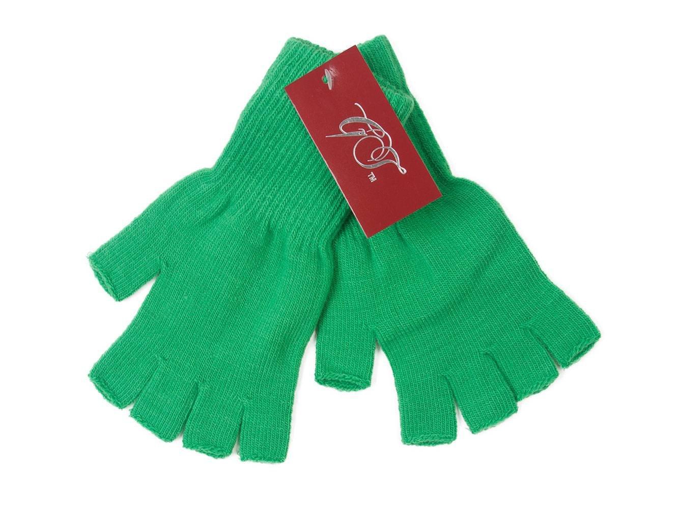 Gravity Threads Unisex Warm Half Finger Stretchy Knit Gloves Black Gravity Trading