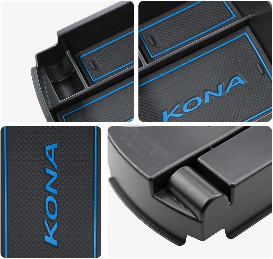 vano portaoggetti Console Storage Box Inserto Vassoio Accessorio Auto,Central Console Box bracciolo su Misura bianca