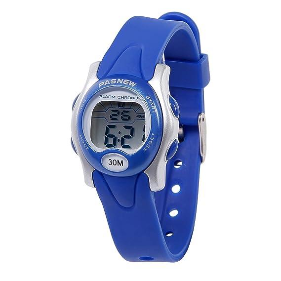 Hiwatch Relojes Deportivos Impermeable para los Ni?os/Ni?as Reloj de Pulsera Digital a Prueba de Agua Infantiles Azul: Amazon.es: Relojes