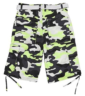 Men's Camouflage Cargo Shorts with Belt