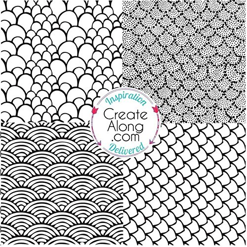 (Silkscreen Stencil Something's Fishy for Polymer Clay and Mixed Media by Create Along)