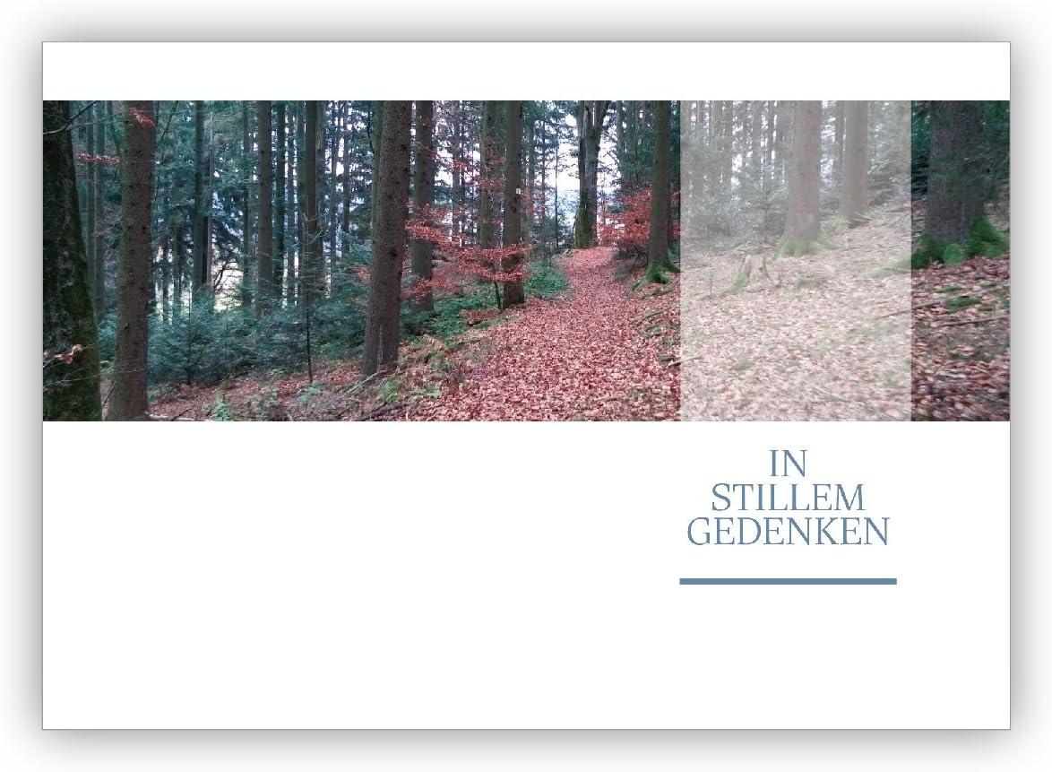 32 Stück Edle Foto Trauerkarte mit Umschlag Set/Kondolenzkarte mit ...