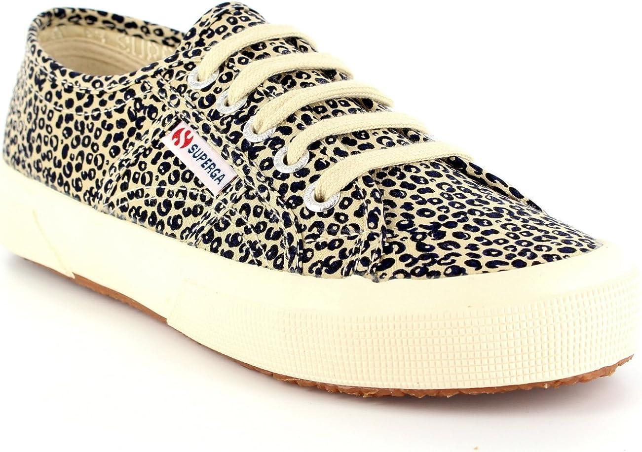 Superga Womens 2750 Leopard Print Lace