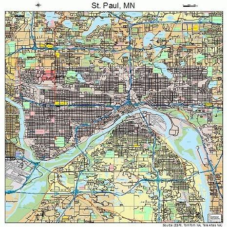 Amazon.com: Large Street & Road Map of St. Paul, Minnesota ...