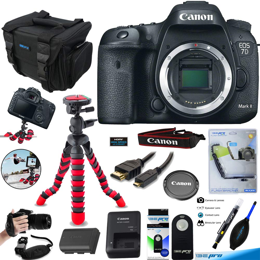 Canon Eos 7d Mark Ii Digital Slr Camera Body Only Kit 18 135mm Nano Usm With Wifi Adapter W E1 Deal Expo Accessories Bundle Photo