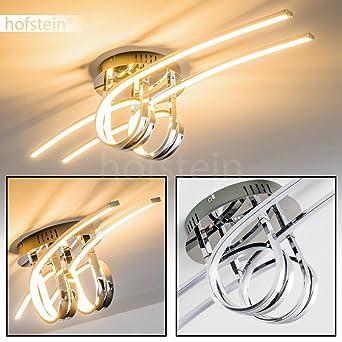 LED Deckenleuchte Casale 4 Flammig Mit Gedrehten Lichtleisten U2013  Extravagante Zimmerlampe Für Wohnzimmer U2013 Deckenlampe