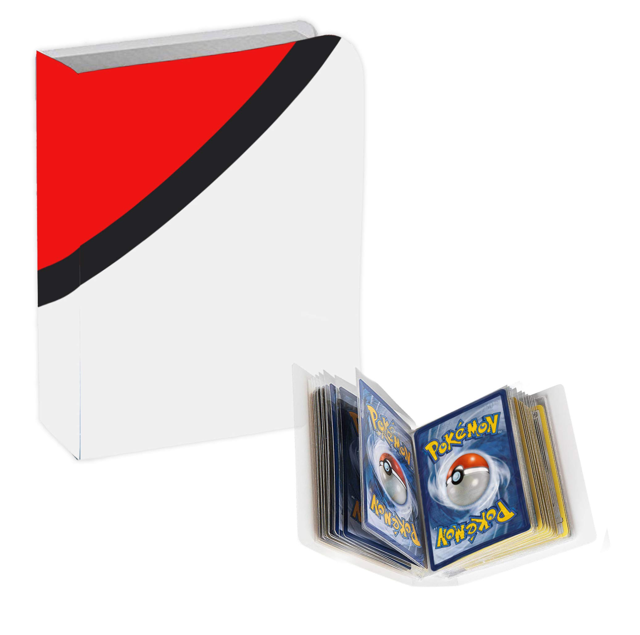 Totem World Jumbo Inspired Poke Ball Binder with 20 1-Pocket Side Loading Pages - Collectors Portfolio Album Holds 40 Oversized Cards - Compatible with Jumbo Pokemon Cards