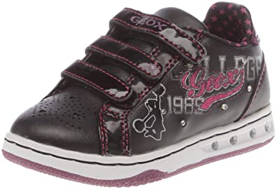e566cca8c7 Image Unavailable. Image not available for. Colour: Geox Baby Girls ' Trainers Sprint Black/Violet ...
