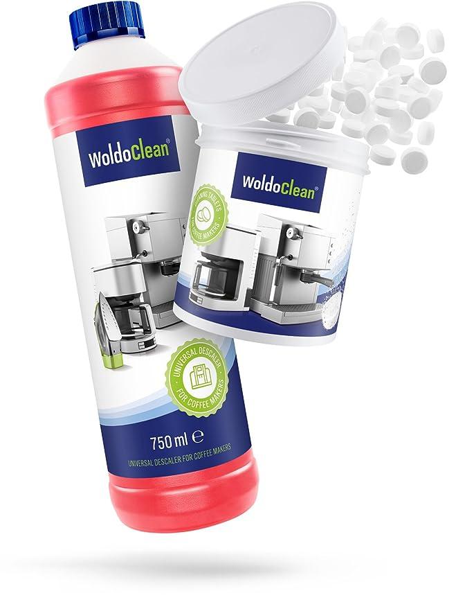 woldo Clean descalcificador y pastillas de limpieza Set de ...