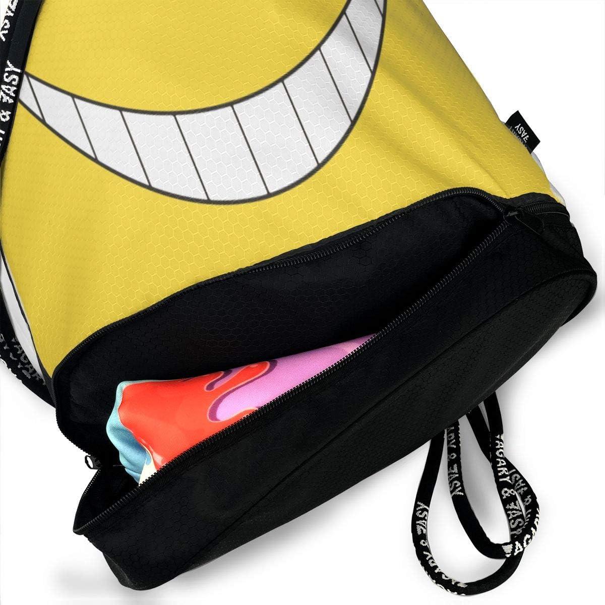 Assassination Classroom Drawstring Bag Multifunction Light For Sports