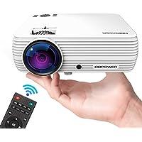 DBPOWER Mini Projector Portable LED Projector, Compatible AV, USB, SD, Amazon Fire TV Stick