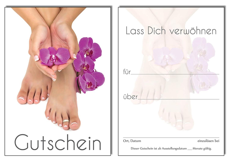 50 Gutscheine - Geschenkgutschein Orchidee Pediküre Fusspflege ...